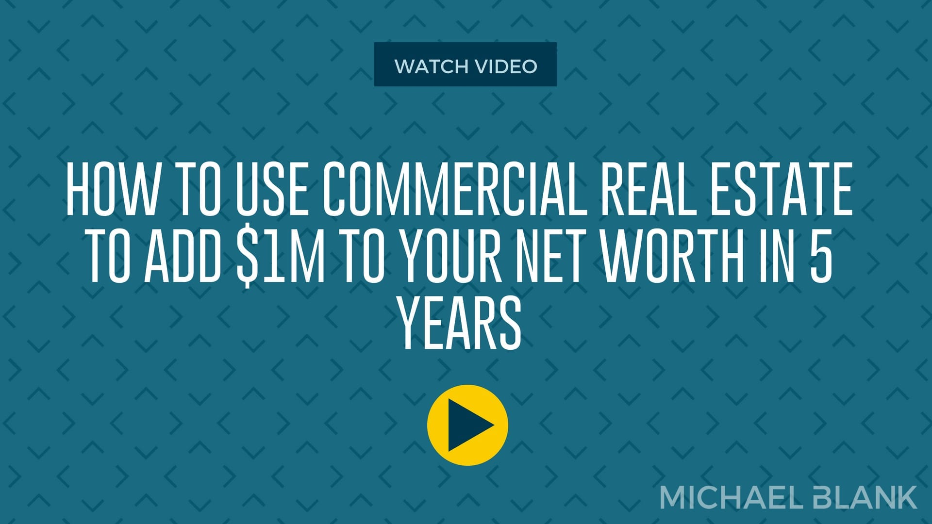 How to Use Commercial Real Estate to Add $1M to Your Net Worth in 5 Years